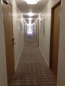 På hotell är det korridorsmattorna som belastas mest. Här har vi 50m matta som rengjorts på plats så gästerna får en trevlig upplevelse av hotellet.